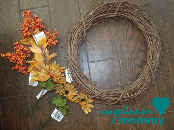 Fall Floral Wreath DIY