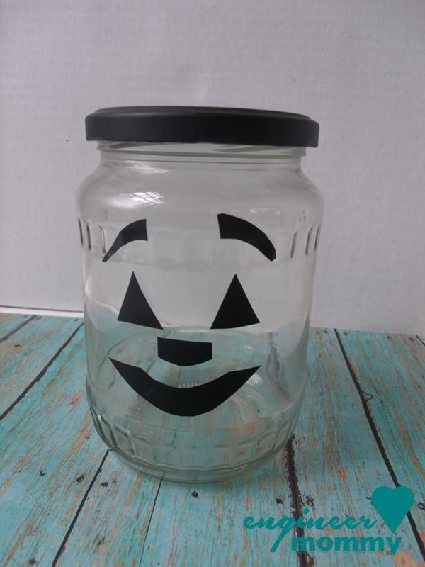 Mason Jar Jack-o-Lantern