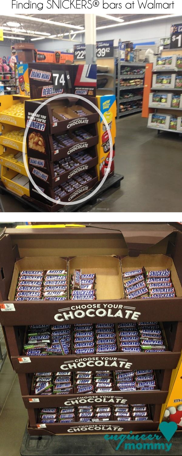 Finding SNICKERS® at Walmart