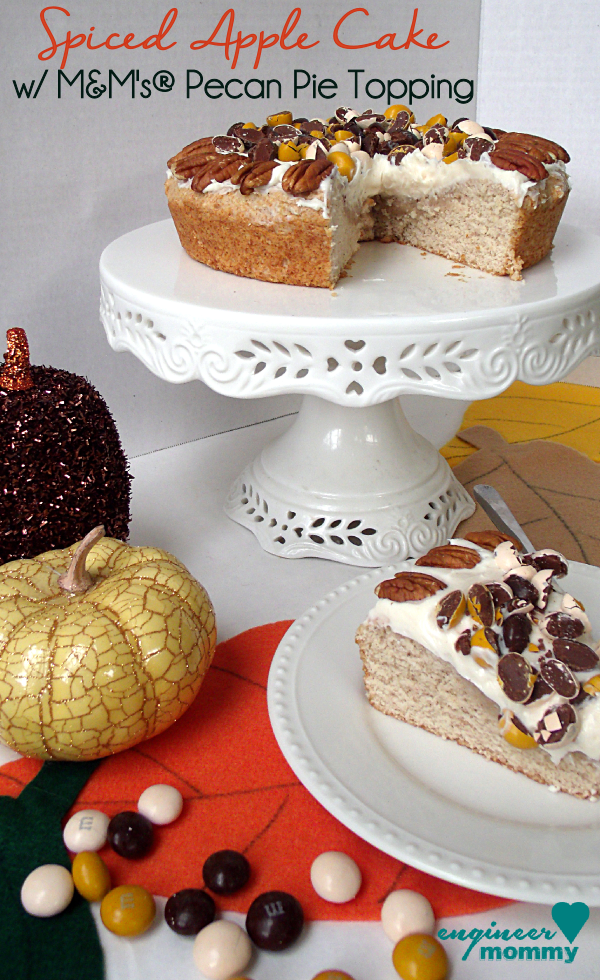 Spiced Apple Cake w/ M&M's® Pecan Pie Topping