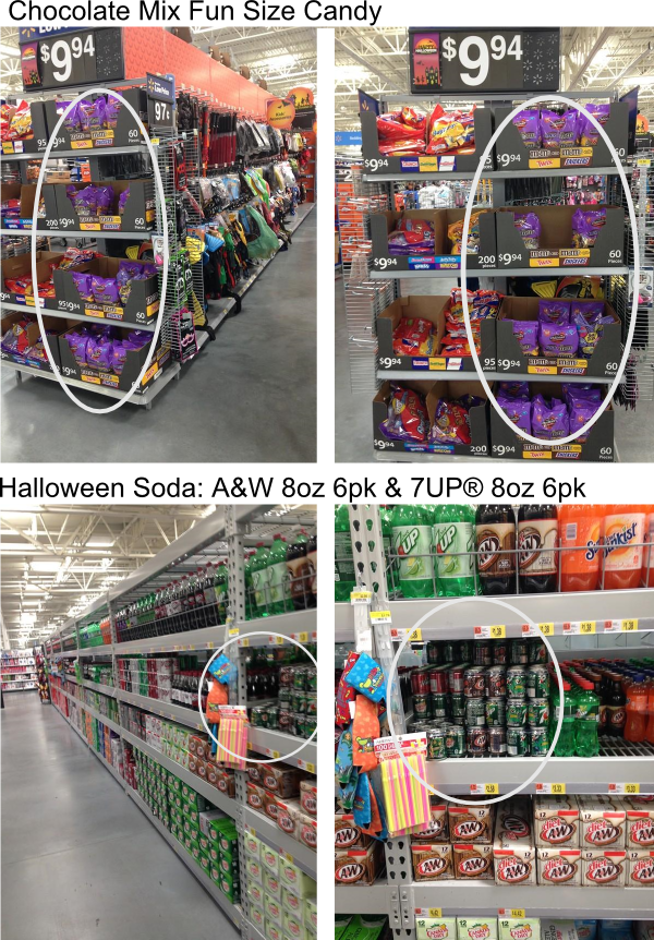 Finding the products at Walmart