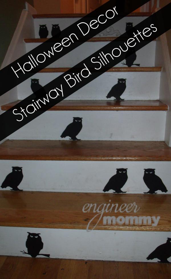 Halloween Decor: Spooky Stairway Bird Silhouettes