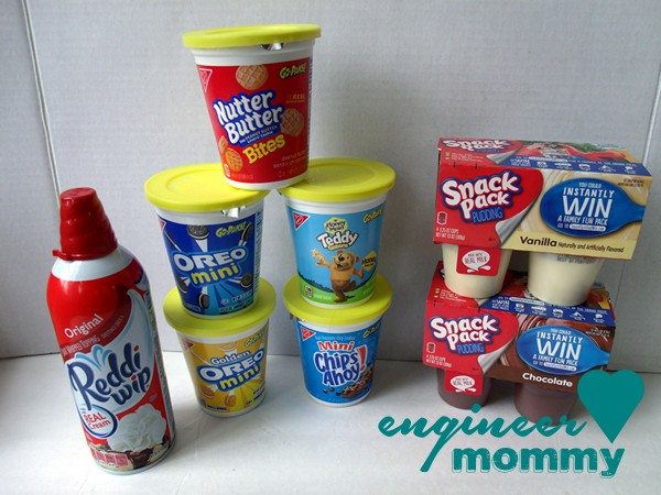Go-Paks!, Snack Pack Pudding and Reddi-wip bought from Walmart
