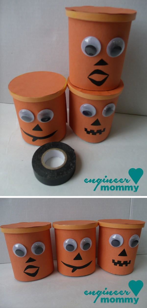 Dressing up the cups with eyes, noses and mouths