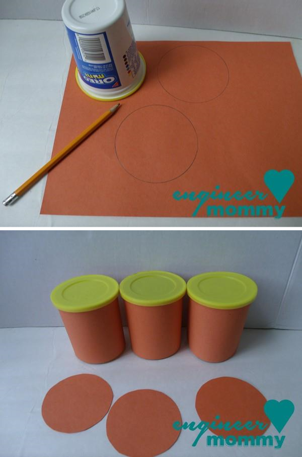 Making circle templates for the lids