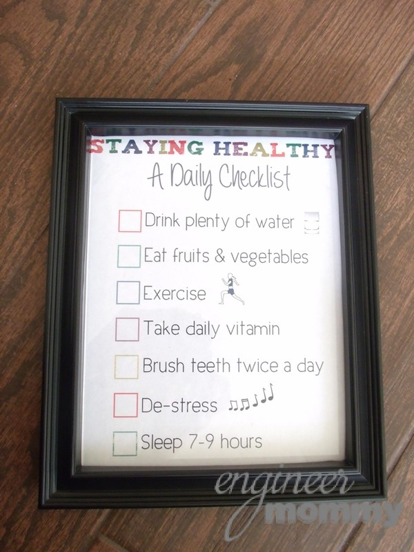 Dry-Erase Board with Daily Checklist