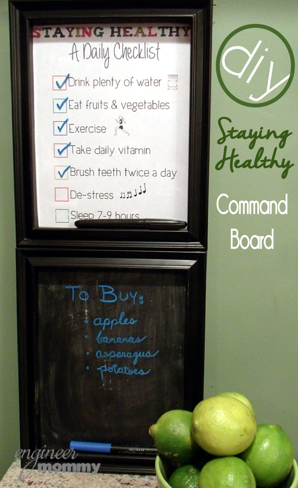 "My DIY ""Staying Healthy"" Command Board"