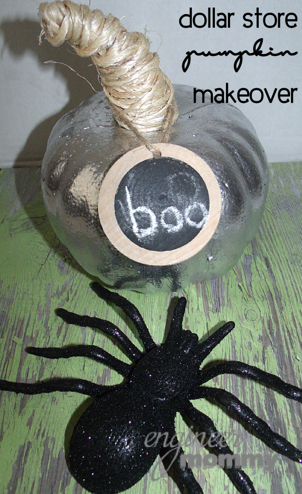 Pumpkin Craft Idea: Tutorial w/ Chalkboard Label