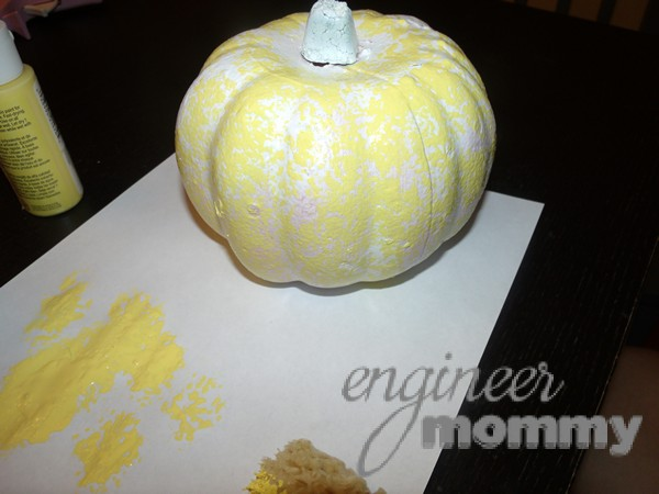 Faux Finish Pumpkin