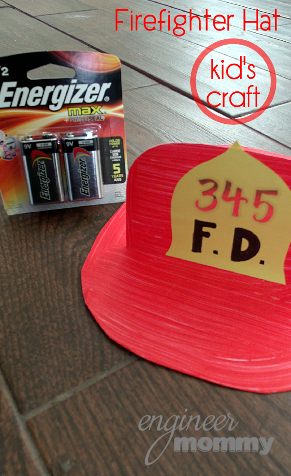 Firefighter Hat Craft for Kids & Fire Safety Printable