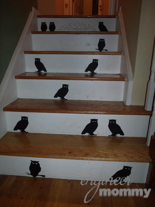 Halloween Decor: Stairway Bird Silhouettes
