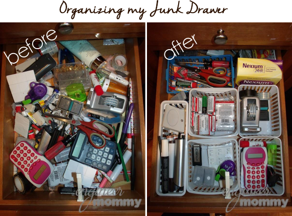 Junk Drawer Organization: Before & After