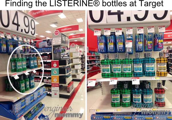 Finding LISTERINE® bottles at Target