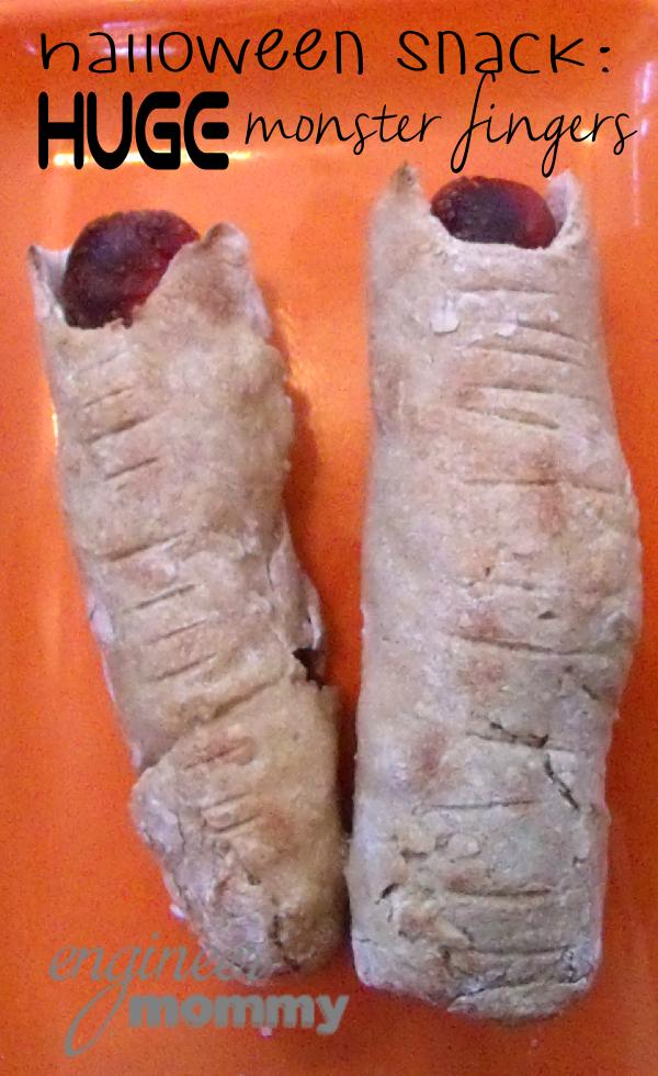 Halloween Snack: Huge Monster Fingers