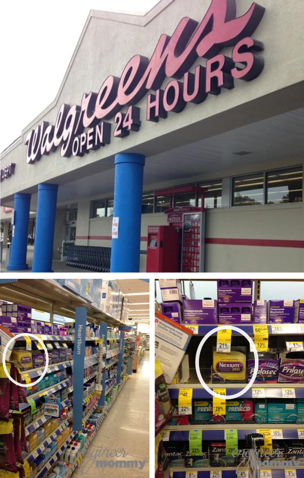 Finding Nexium 24HR at Walgreen's