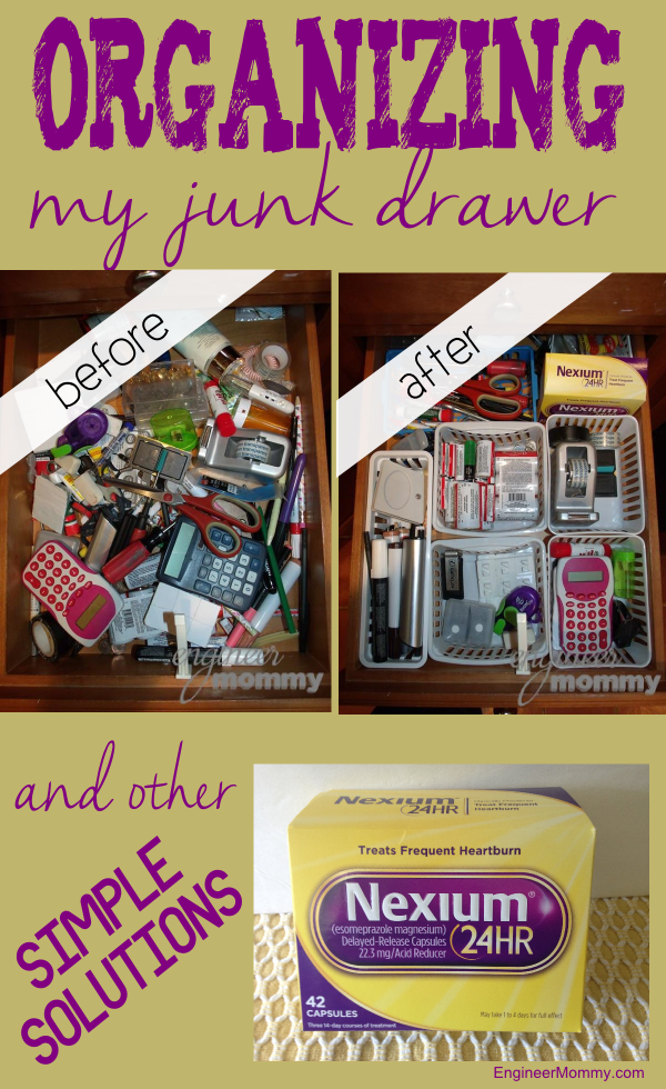 Organizing my junk drawer and other simple solutions