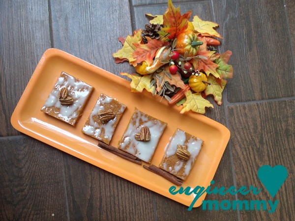 Spiced Pumpkin Bars w/ White Chocolate Topping