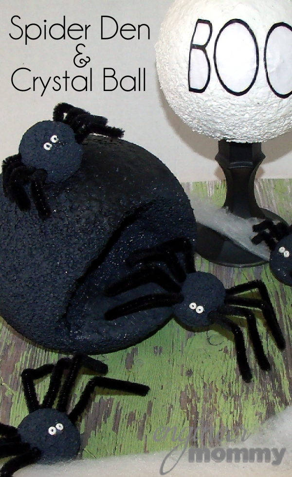 Halloween DIY: Spider Den & Crystal Ball