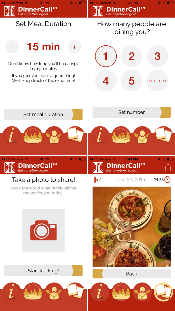 Tracking Dinners with the DinnerCall App