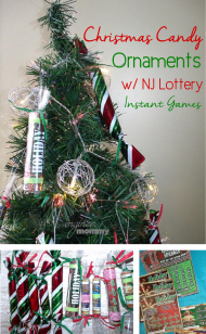 DIY Christmas Candy Ornaments with New Jersey Lottery