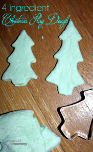 4 Ingredient Christmas Play Dough