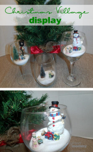 Displaying a Christmas Village in Glasses