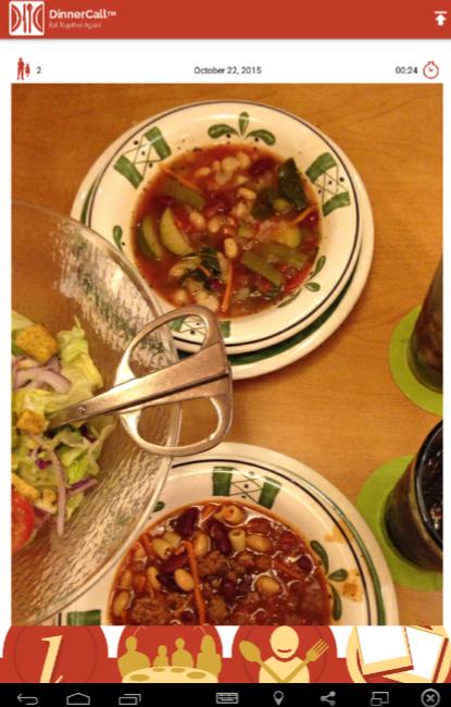 DinnerCall app