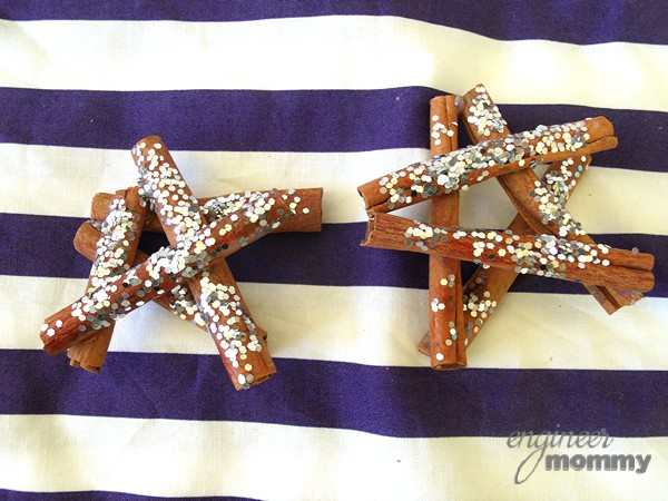 DIY Ornaments: Cinnamon Stick Stars