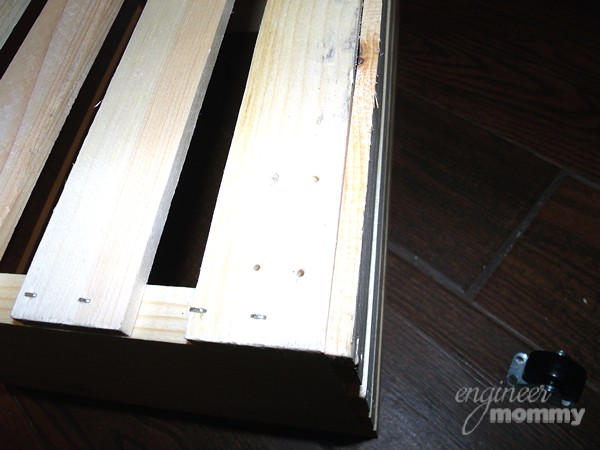 DIY Rolling Filing Cabinet:  Marking Holes