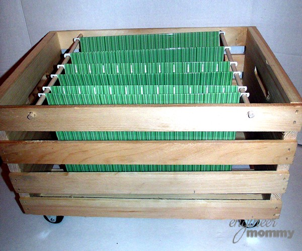 DIY Rolling Filing Cabinet: Hanging File Folders