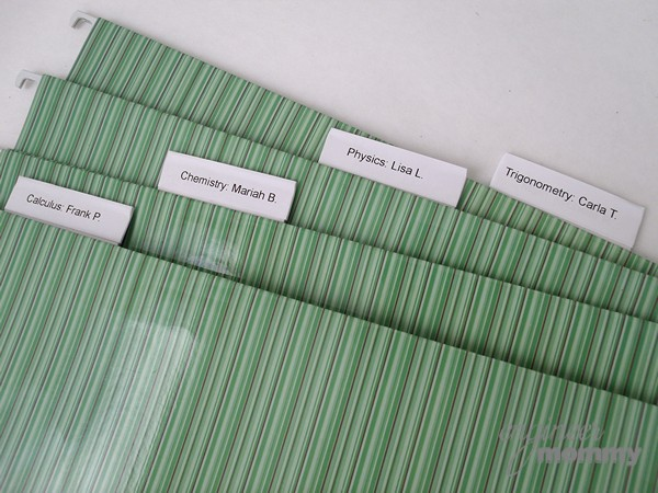 DIY Rolling Filing Cabinet: Labeling the Folders
