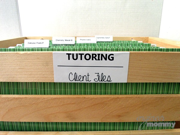 DIY Rolling Filing Cabinet: Labeling the Crate