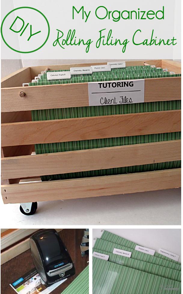 Organizing my DIY Rolling Filing Cabinet