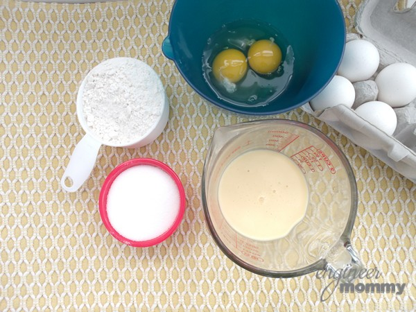 Ingredients for Eggnog Cupcakes with Eggnog Buttercream Frosting