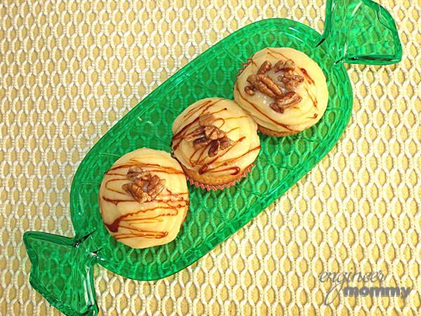 Eggnog Cupcakes with Eggnog Buttercream Frosting