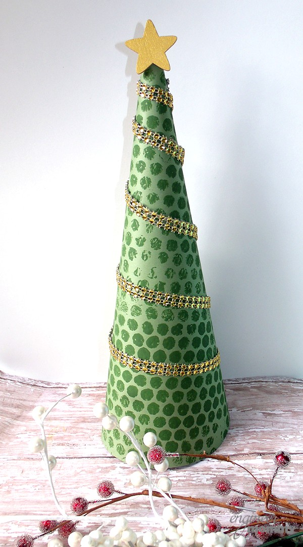 Rhinestone Ribbon Christmas Tree