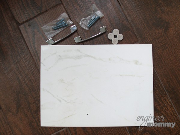Supplies for DIY Tile Tray