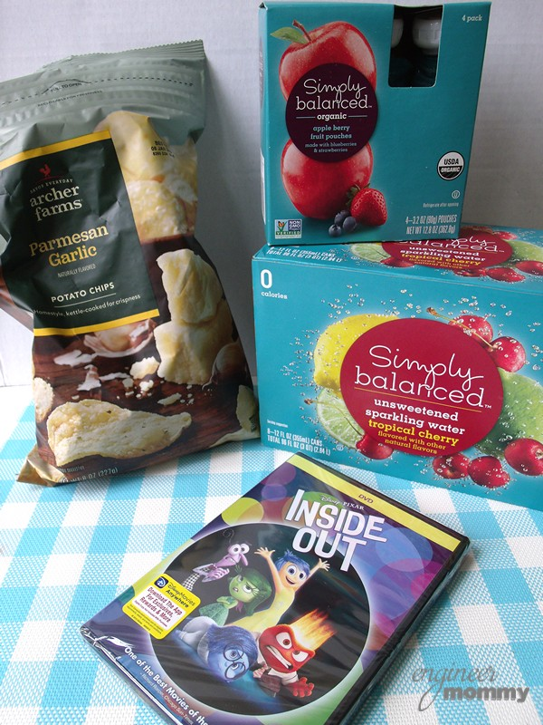 Movie Night Snacks and Drinks from Target