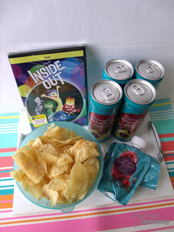 Move Night Tray Loaded with Snacks & Drinks