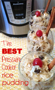 The Best Pressure Cooker Rice Pudding (FWPC6L review)
