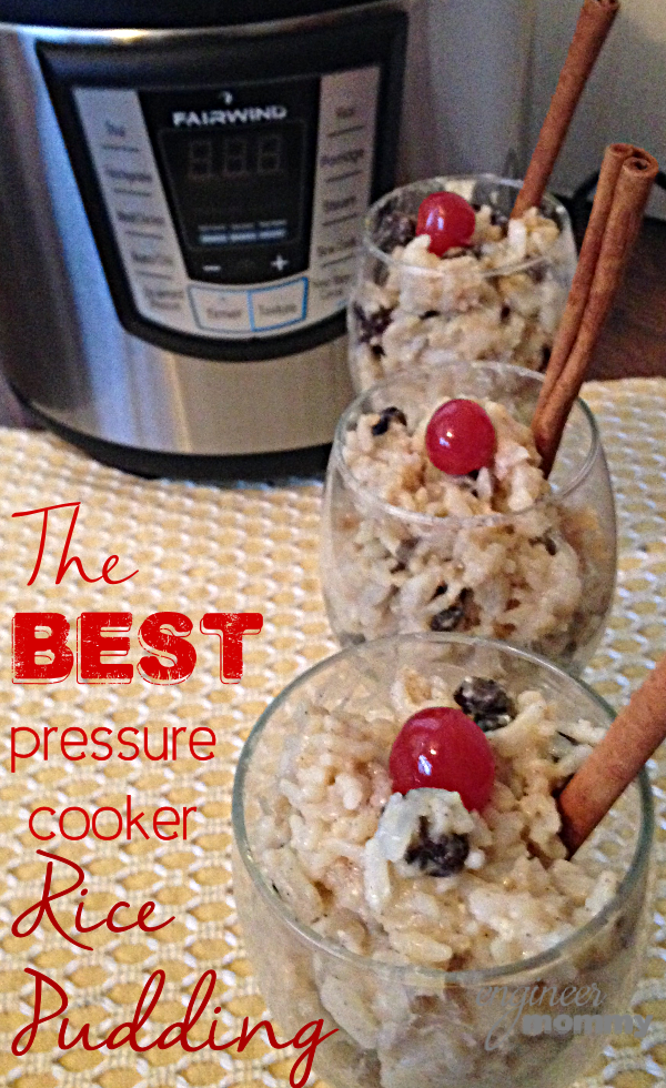 The Best Pressure Cooker Rice Pudding