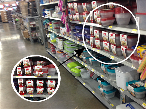 Finding the Rubbermaid TakeAlongs products at Walmart