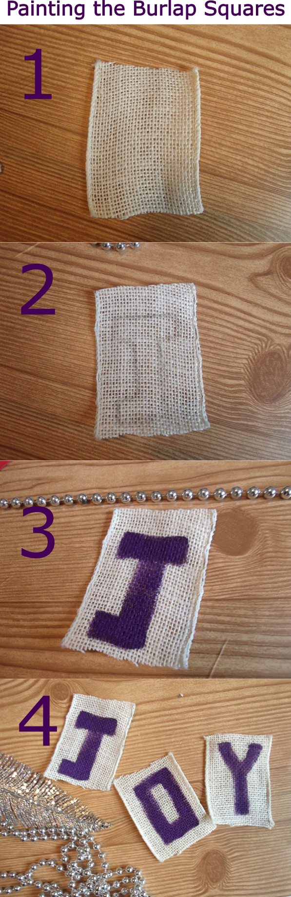 Creating a Message from Burlap Squares