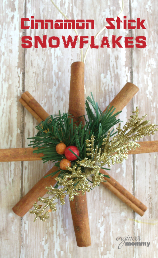 DIY Ornaments: Cinnamon Stick Snowflakes