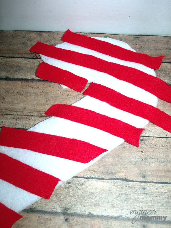 Red Strips of Felt