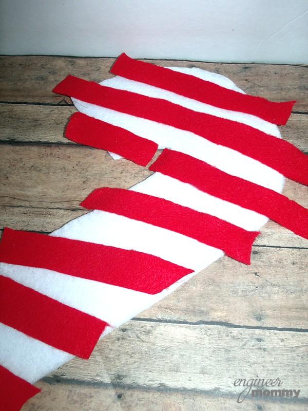Red Strips of Felt