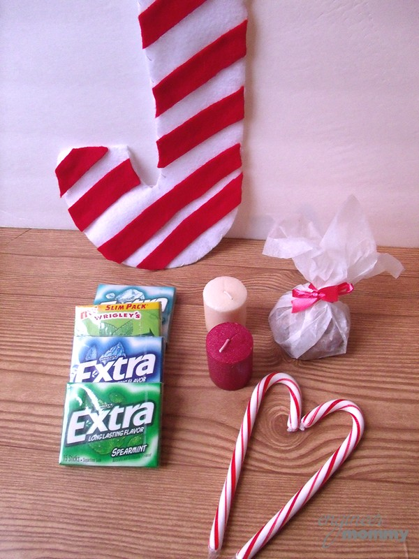 Candy Cane Felt Pouch