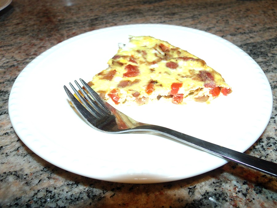 Slice of quiche