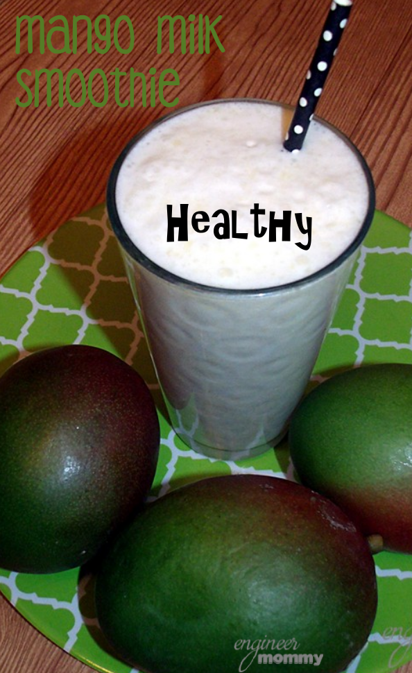 Healthy Mango Milk Smoothie