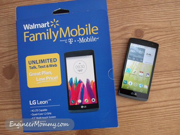 Walmart Family Mobile LG Leon LTE Smarthphone